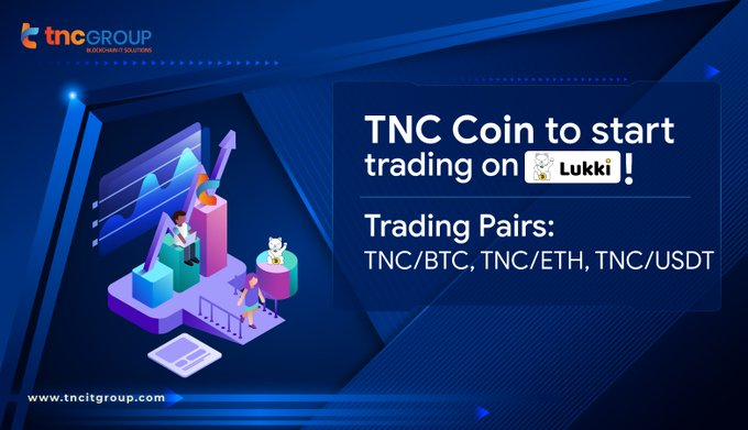 10. TNC Coin officially partners with Lukki Exchange