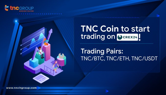 9. TNC Coin now available on Crex24