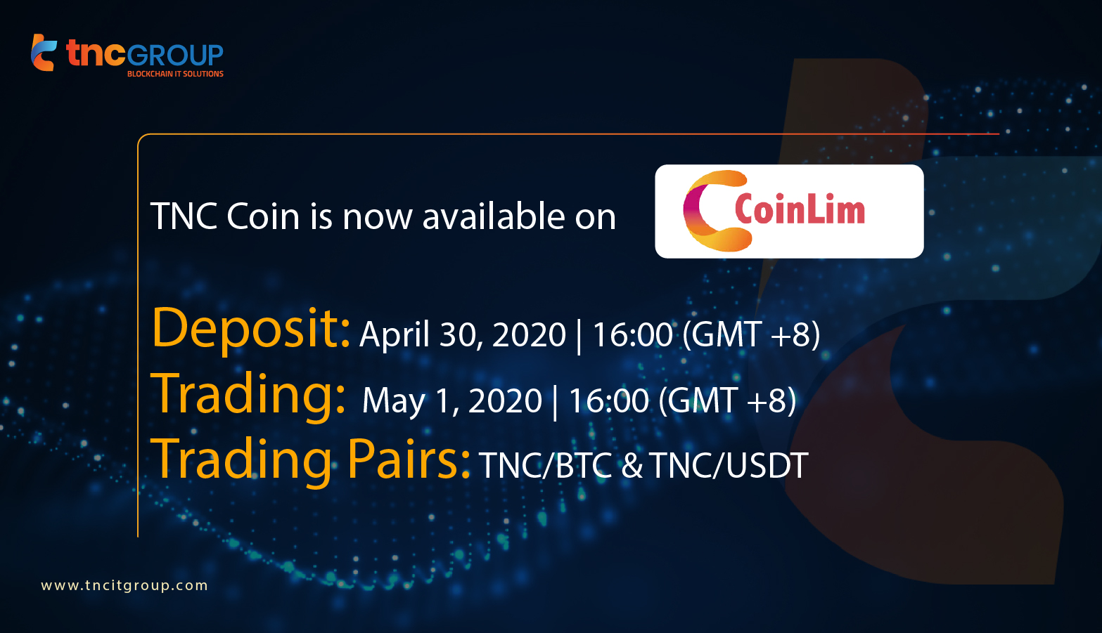 TNC Coin is now available on CoinLim