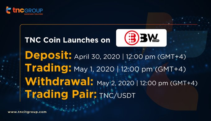 TNC Coin Launches on BW