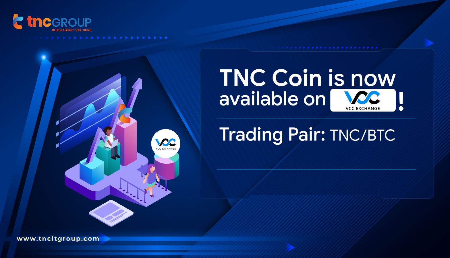 TNC Coin is now accepted on VCC Exchange