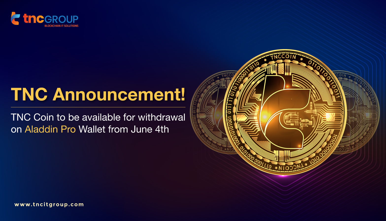 TNC Coin to be Available for withdrawal on Aladdin Pro